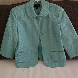 Talbots light teal jacket